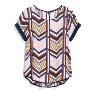 Papermoon chevron print short sleeve blouse